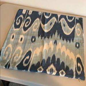 Pottery Barn Blue Swirl Pillow Cover